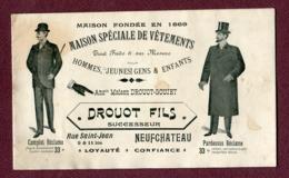 """NEUFCHATEAU  : """" VÊTEMENTS  DROUOT Fils """"  Petit Catalogue - Pubblicitari"""