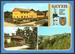 C8587 - TOP Geyer - Busbahnhof Konsum Kaufhalle - Bild Und Heimat Reichenbach - Geyer