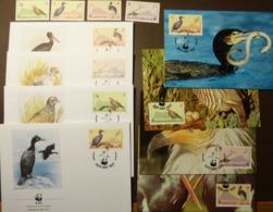 Gibraltar 1991 Mi 619-622 WWF BIRDS Vogel Oiseaux Migrateurs  Maxi Card FDC MNH ** #cover 5009 - W.W.F.