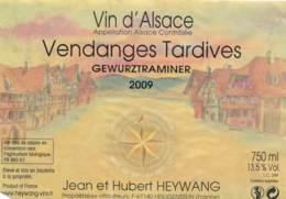 Etiquettes De Vin -B3718 -Heywang  -67-Heigenstein  (Vignoble, Millésime, état;...se Référer Aux  Scan)s-Envoi Gratuit - Gewurztraminer