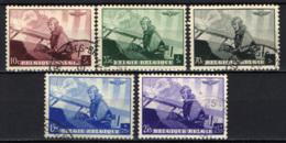 BELGIO - 1938 - IL RE LEOPOLDO III SULL'AEREO DA GUERRA - USATI - Belgio
