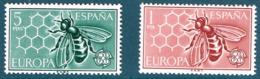 Espagne. 2 Timbres. Europa,  Abeille - Bienen