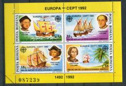 Roumanie **  Bloc 220  Europa 92 - Christophe Colomb - Europa-CEPT