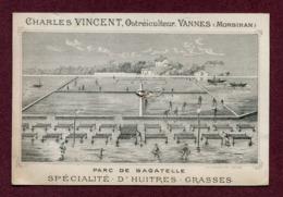 """VANNES  (56) : """" HUÎTRES GRASSES - CH. VINCENT """" - Cartes De Visite"""