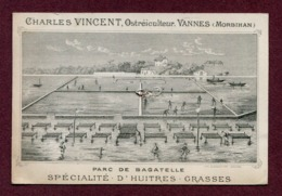 "VANNES  (56) : "" HUÎTRES GRASSES - CH. VINCENT "" - Visiting Cards"