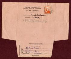 GRAFFIGNY-CHEMIN  (52) : TP N° 736 Sur AVIS DE RECEPTION (1945) Pour NEUFCHATEAU - Marcophilie (Lettres)