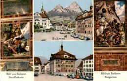 Schwyz - 4 Bilder (43782) * 4. 11. 1958 - SZ Schwyz