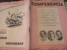 CONFERENCIA/ REYNALDO HAHN /ALBERT FLAMENT /ELLA MAILLART POETESSES MARIE LAURENCIN COLETTE LUCIE DELARUE MARDRUS - 1900 - 1949