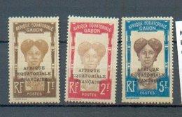 GAB 317 - YT 105 à 107 * - Gabon (1886-1936)