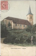 CPA - 39 - Jura - Villers Farlay - L' église- Colorisée - Animée - Villers Farlay