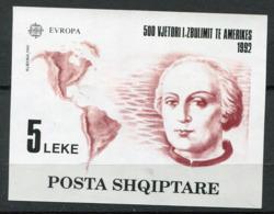 Albanie ** Bloc 73 - Christophe Colomb - Europa 92 - Europa-CEPT