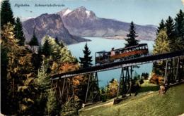 Rigibahn - Schnurtobelbrücke (4398) * 8. 7. 1923 - SZ Schwyz