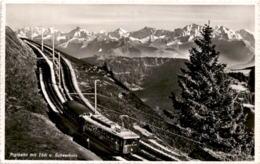 Rigibahn Mit Tödi Und Scheerhorn (9316) * 14. 6. 1948 - SZ Schwyz