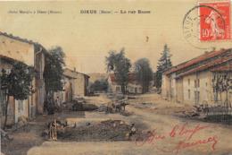 DIEUE - La Rue Basse (carte Toilée) - France