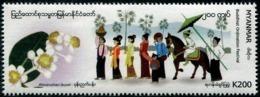 Myanmar (2019) - Set -  /  Festival - Horses - Flowers - Orchids - Fleurs - Umbrella - Dress - Costumes - Buddhismus