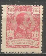 GUINEA ALFONSO XIII EDIFIL NUM. 163 * NUEVO CON FIJASELLOS - Guinea Espagnole