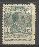 GUINEA ALFONSO XIII EDIFIL NUM. 164 * NUEVO CON FIJASELLOS - Guinea Espagnole