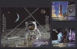 Romania (2019) - Set + Block -  /  Espace - Space - Moon - Apollo - Astronaut - Other