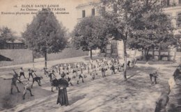Montargis : (Série De 20 CP Ecole Saint-Louis) - N° 16 Exercices Physiques Dans La Cour De Récréation - Montargis