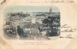 France - 82 - Montauban - 1900 - Vue Panoramique Côté Ouest ) Rue De La Mairie - Beffroi - Eglise St. Jacques - Couleurs - Montauban