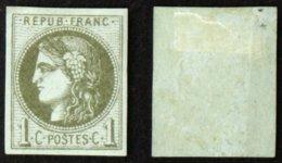 N° 39C 1c CERES BORDEAUX B Neuf NSG Cote 110€ - 1870 Emission De Bordeaux