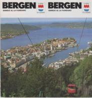 Brochure About Bergen In Norway - Published In 1990 - Text In Esperanto - Toeristische Brochures