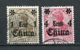 Deutsche Post In China Nr.38 + 40        O  Used        (029) - Deutsche Post In China
