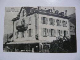 CPA SUISSE - MARTIGNY : Hôtel Du Grand Saint Bernard - Scène Animée - VS Valais