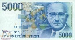 ISRAEL 5000 SHEQUALIM 1984 PICK 50a UNC - Israël