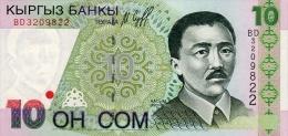 Kyrgyzstan 10 Som  1997  Pick 14 UNC - Kirghizistan