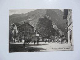 CPA SUISSE - MARTIGNY : La Place De La Gare- Scène Animée - VS Valais