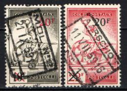 BELGIO - 1959 - MERCURIO E RUOTA ALATA CON SOVRASTAMPA - USATI - 1952-....
