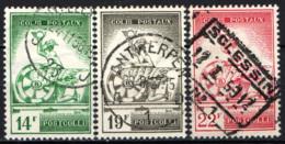 BELGIO - 1957 - MERCURIO E RUOTA ALATA - USATI - 1952-....
