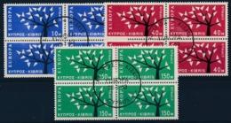 EUROPA CEPT - CYPRUS 1962 (blok Van 4) - Gest./obl. - Cote 80,00 € - (ref. 103) - 1962