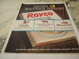 ANCIENNE PUBLICITE 3 NOUVEAUX POTAGES  ROYCO 1961 - Posters