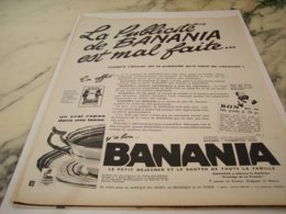 ANCIENNE PUBLICITE PUBLICITE EST MAL FAITE BANANIA  1961 - Posters