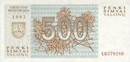 Lithuania 500 Talonas  1993  Pick 46 UNC - Litouwen