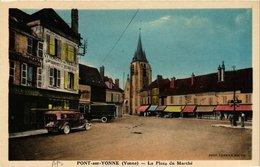 CPA PONT-sur-YONNE - La Place Du Marche (658494) - Pont Sur Yonne