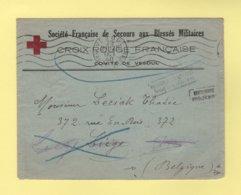 Croix Rouge Francaise - Comite De Vesoul - 29 Oct 1940 - Destination Belgique - Inconnu - Retour A L Envoyeur - Postmark Collection (Covers)