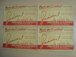 LOT DE 4 BUVARDS LE SAVON PRINCES DU CONGO - Buvards, Protège-cahiers Illustrés