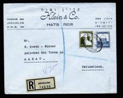 A6348) Palästina Palestine R-Brief Jerusalem 19.12.45 N. Aarau / Schweiz - Palestina