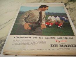 ANCIENNE PUBLICITE EVENEMENT SPORTIFS DE MARLY 1961 - Vintage Clothes & Linen