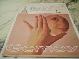 ANCIENNE  PUBLICITE ROSES VERNIS DE GEMEY 1961 - Perfume & Beauty