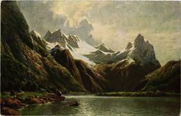 CPA AK NORWAY C. Oesterley Jr. Der Romsdalfjord (257592) - Norvège