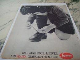 ANCIENNE PUBLICITE DES CHAUSSETTES EN LAINE POUR L HIVER  DE STEMM  1961 - Unclassified