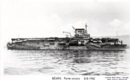 BEARN - PORTE  AVIONS - 2 - NON VIAGGIATA - Warships