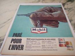 ANCIENNE  PUBLICITE PARE POUR L HIVER AVEC MOBIL 1961 - Other