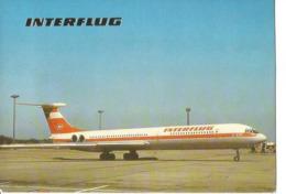 CP AVION ILYUSHIN 62   INTERFLUG - 1946-....: Era Moderna