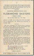 DP Oorlog - WOII - 40-45 - Florimond BAETENS ° Duffel 1913 + Scheepsramp Willemstad (Nl) 30/5/1940 - Religion & Esotericism
