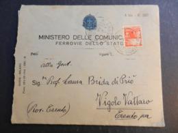12.6) FERROVIE ITALIANE MINISTERO DELLE COMUNICAZIONI 1946 AMBULANTE GENOVA MILANO - Railway